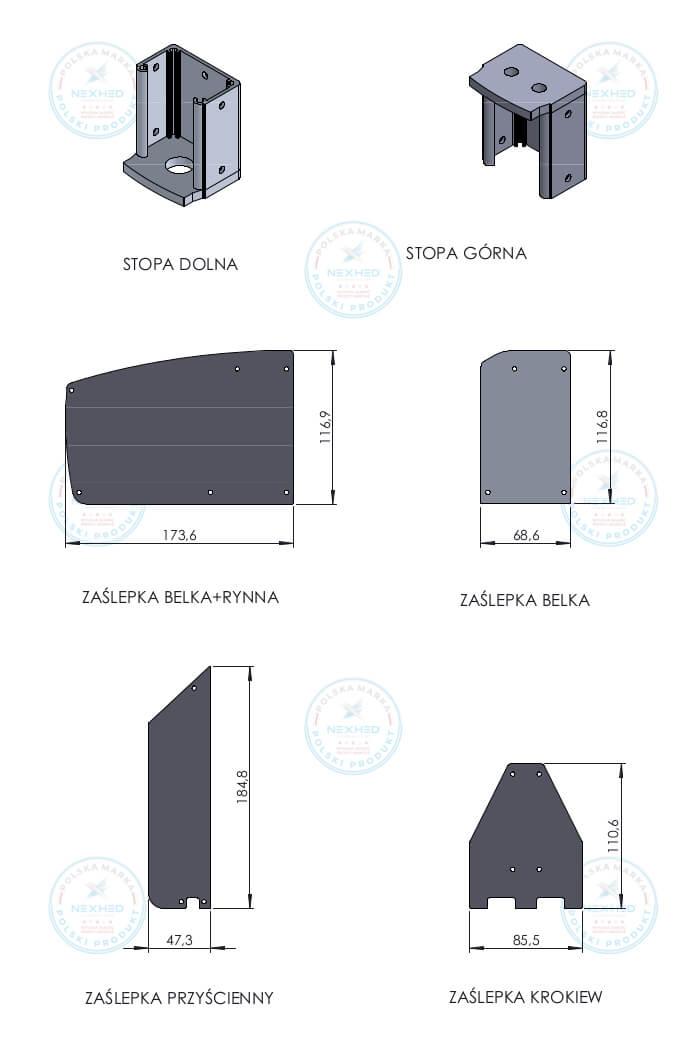akcesoria do profili aluminiowych