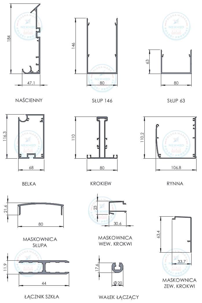 profile aluminiowe konstrukcyjne surowe