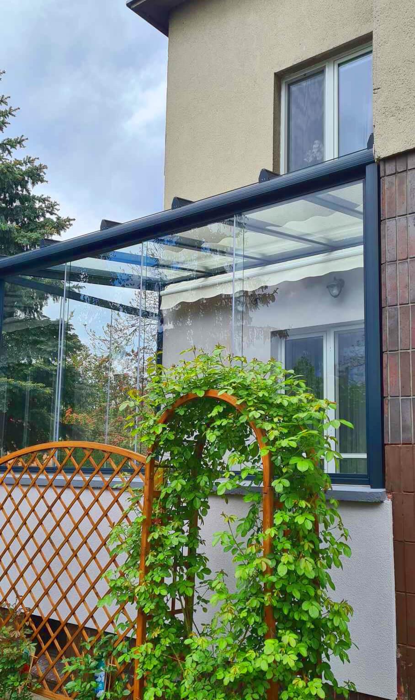 Zabudowa tarasu balkonu z aluminium + szkło