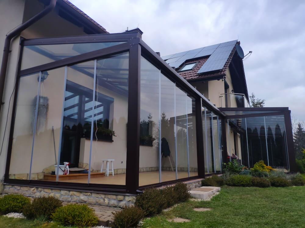 Ściany szklane przesuwne aluminiowe producent